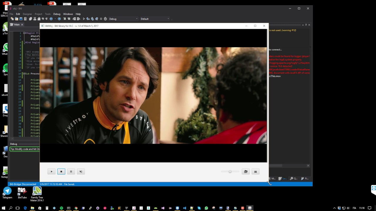B4J Library - B4JVlcj (embed VLC MediaPlayer in your program