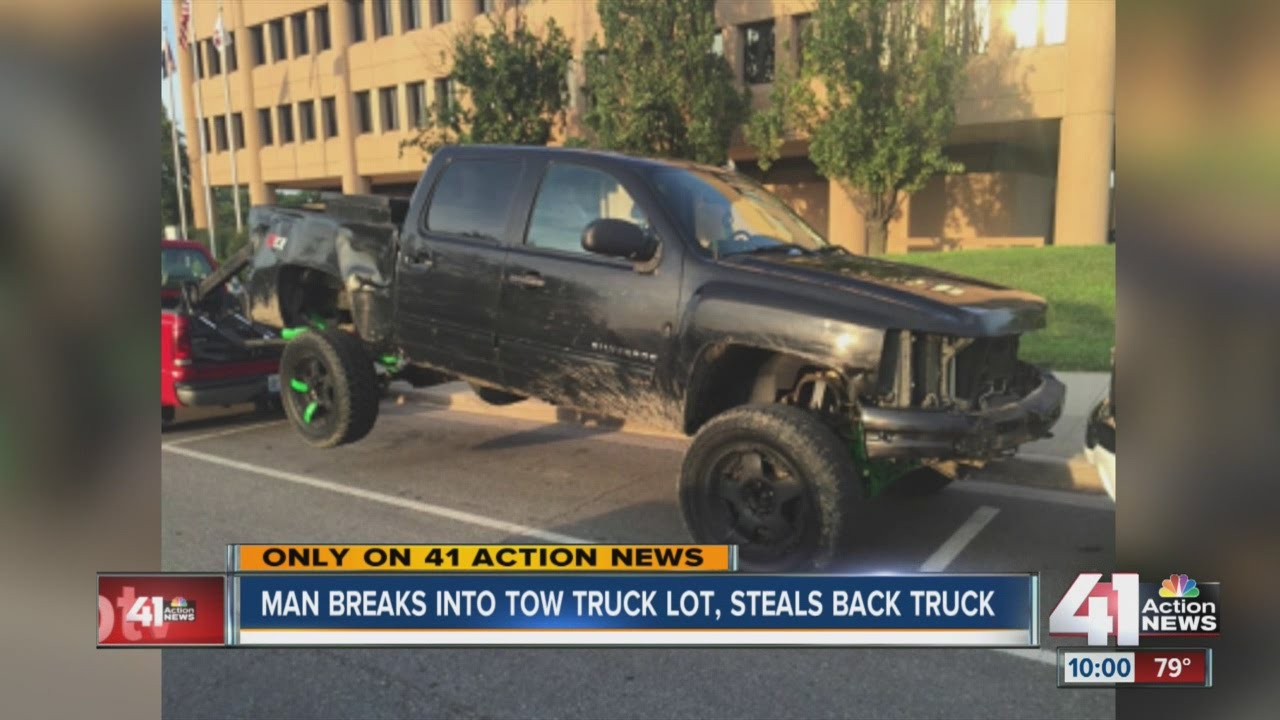 After truck stolen, cameras broken at towing lot, company thinks the vehicle's owner is respons