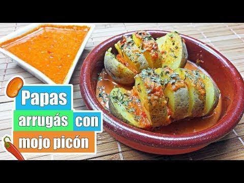 Papas arrugás con mojo picón | Receta de patatas arrugadas con salsa de mojo picón canario