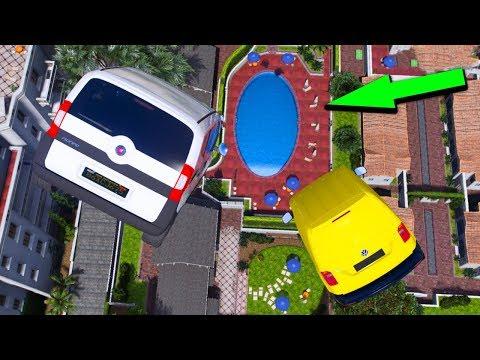 Süper Ticari Arabalar 4 Farklı Havuz Parkurunda