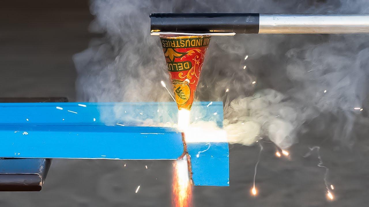 Can We Cut Metal Using Diwali Anar - Testing Diwali Crackers