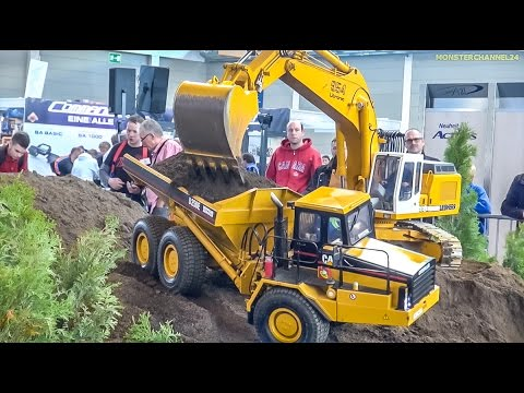 RC EXTREME! Stunning excavators and dump trucks in HUGE 1:8 scale!