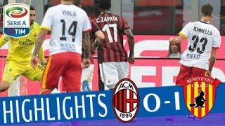 Milan-benevento 0-1marcatori: pt 28' iemmellomilan (4-4-2): donnarumma; calabria, bonucci, zapata, rodríguez; borini (4' st fernández saez), kessié, biglia (...
