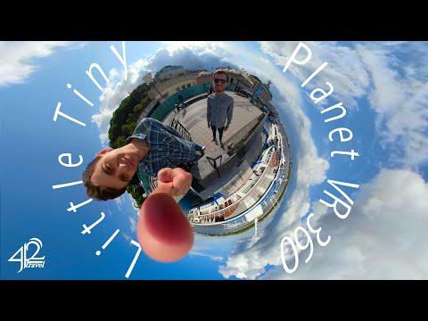 Эффект Маленькой Планеты. Киев Little Tiny Planet. VR360 GoPro Fusion (4К)