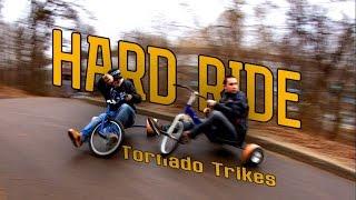 Катаем на Воробьевых горах на Дрифт трайках! Tornado Drift Trikes in Vorobyovy Gory, Moscow.