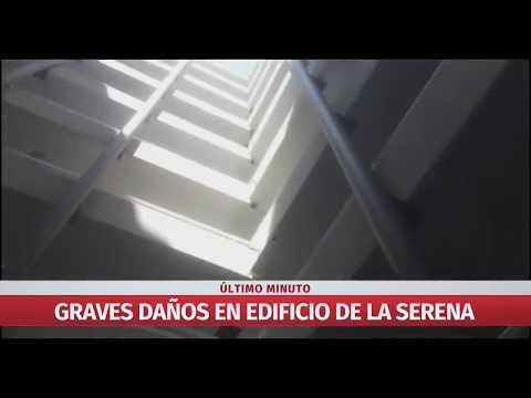 Edificio en La Serena resulta gravemente dañado a raíz del sismo 67 Richter