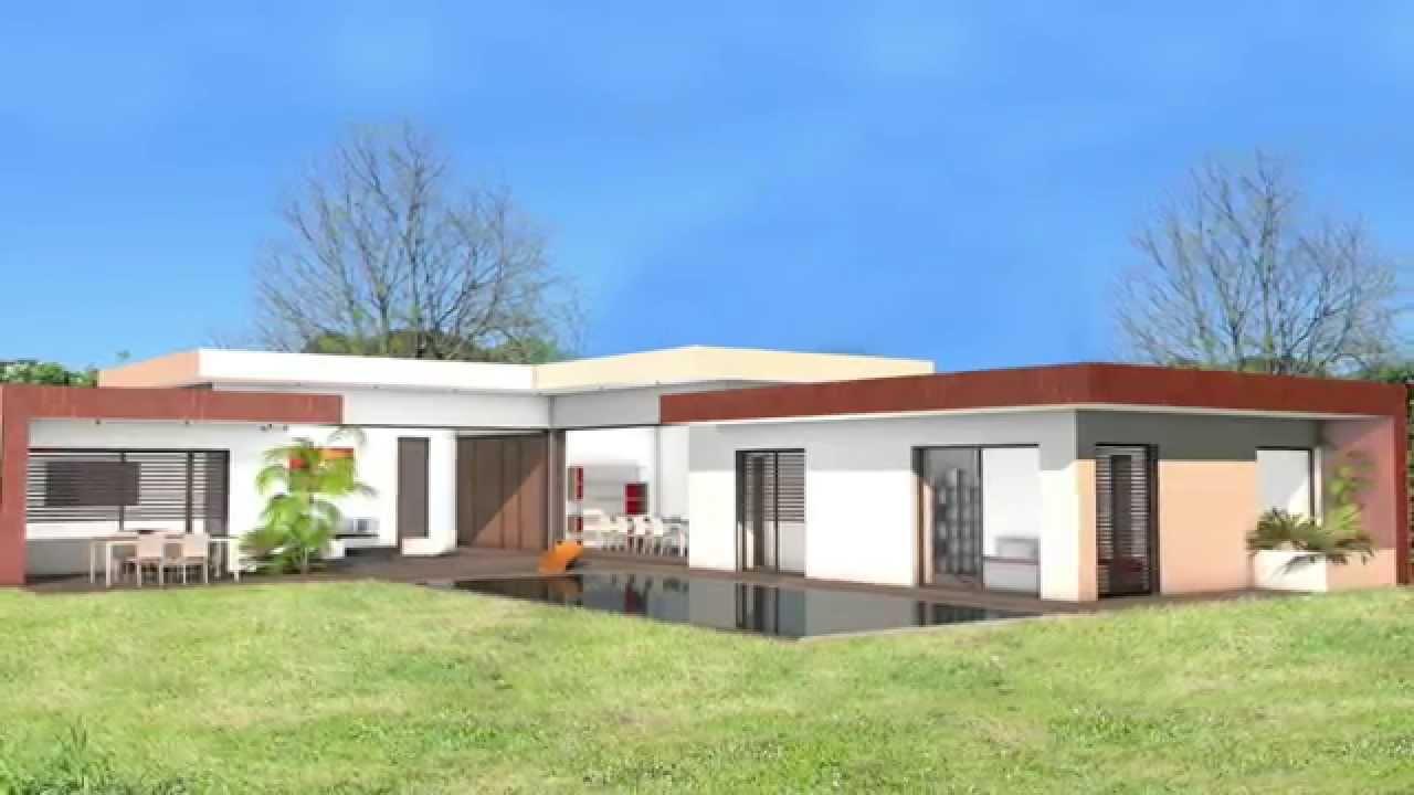 Maison contemporaine de luxe toit terrasse acier corten toulouse ...