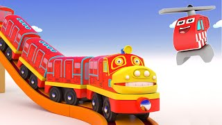 Let's Build a Bridge For Toy Train - Toy Video for kids - Choo choo train kids videos