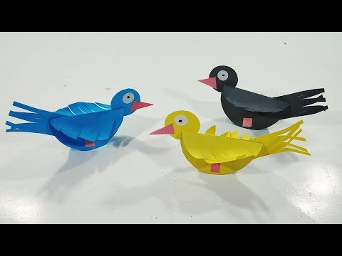 How To Make Paper Bird || Paper Bird Making || DIY