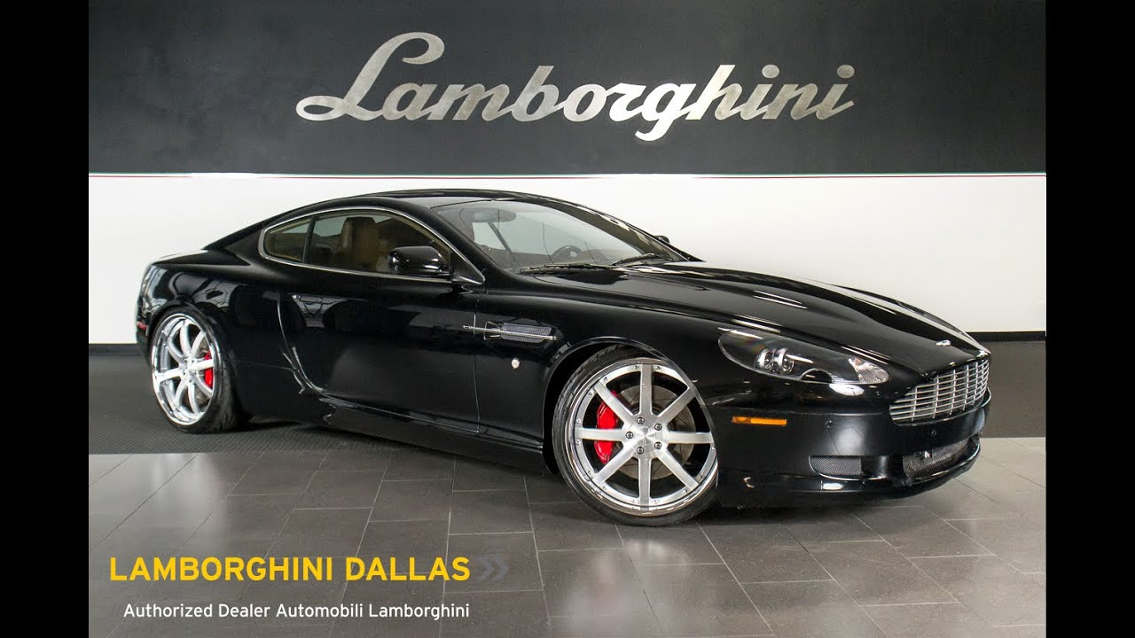 2007 Aston Martin Db9 Gloss Black Lt0723 Youtube