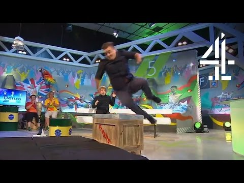 Alex Brooker High Jumps Over A Box In The Studio | The Last Leg