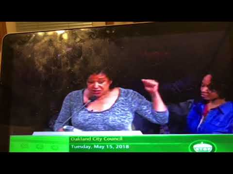Cat Brooks At City Council On Racial Problems In Oakland At Lake Merritt