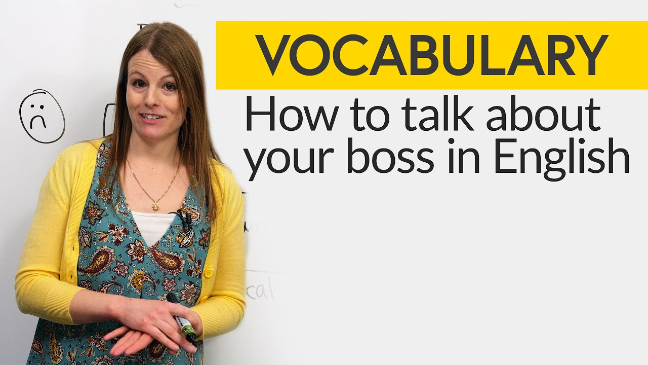 How to talk about your boss in English
