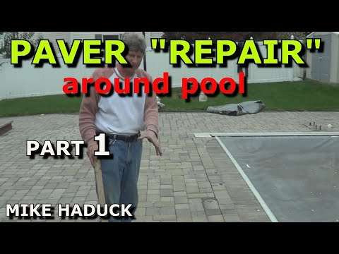 Paver repair, How I fix sunken pavers (part 1 of 2). (Mike