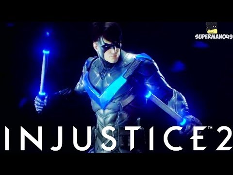 """Nightwing Staff Of Grayson Is The Best! - Injustice 2 """"Nightwing"""" Gameplay (Epic Gear)"""