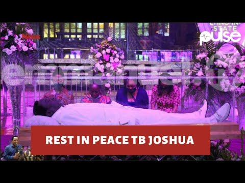 TB JOSHUA FUNERAL: TB Joshua laid in state at Synagogue Church.