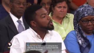 Black man debates white supremist about ferguson