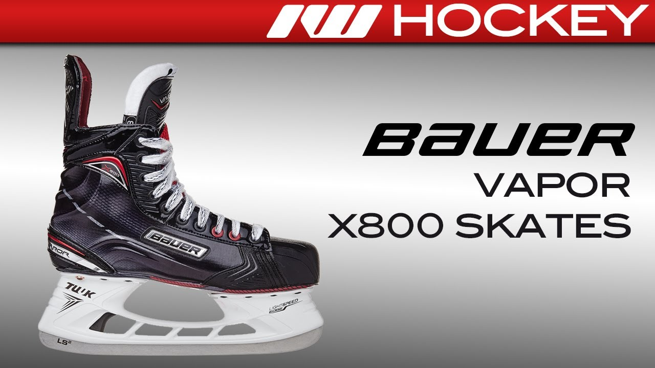 5bbd4c9b780 2017 Bauer Vapor X800 Skate Review - YouTube