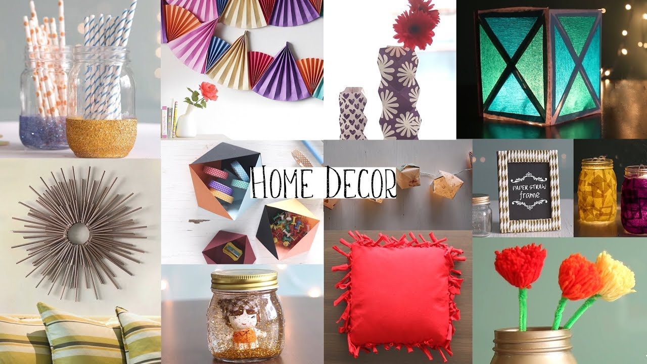 Top 20 Home Decor Ideas You Can Easily Diy Diy Room Decor Youtube - Home-decorate-ideas
