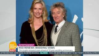 Rod Stewart And Penny Lancaster Renew Their Vows | Good Morning Britain