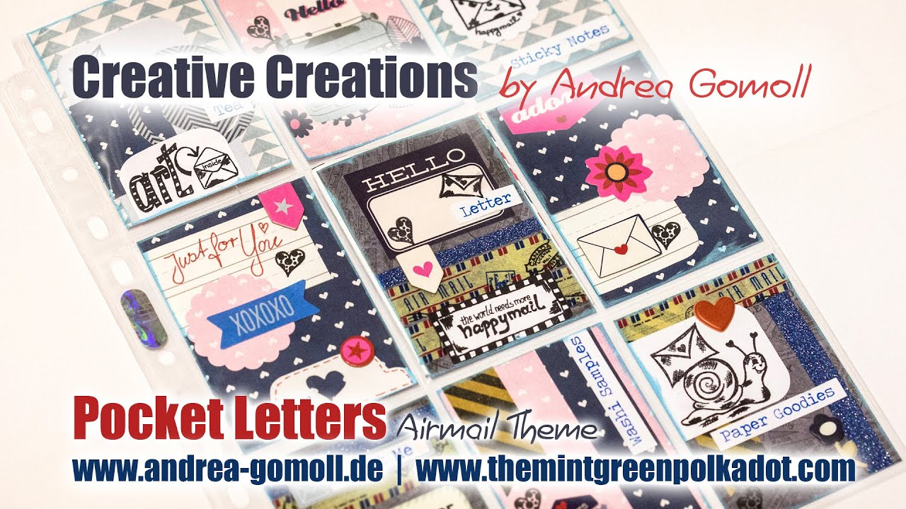 pocket letter happymail with an air mail theme youtube