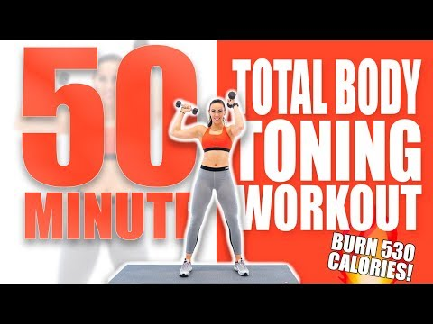 50 Minute Total Body Toning Workout 🔥Burn 530 Calories! 🔥Sydney Cummings