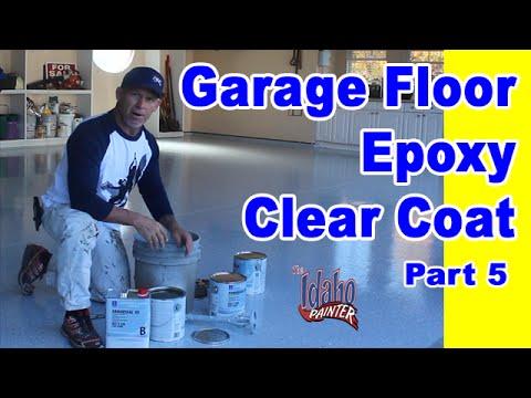 Epoxy Floor Clear Coat Application Garage Floor Epoxy