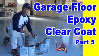 Epoxy Floor Clear Coat Application.  Garage Floor Epoxy Instructions.  DIY Concrete coatings.