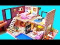 diy miniature dollhouse barbie dreamhouse with twin beds Barbie and Chelsea