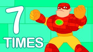 7 Times Table Song (with Super Heroes) | Multiplication Song for Kids | Learn Math for Preschoolers