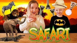 Животные Сафари. Учим животных - Лев,Крокодил,Зебра,Слон.
