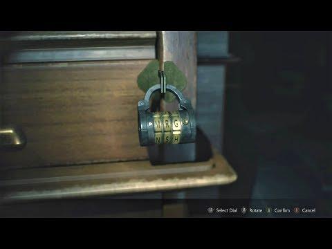 Resident Evil 2 Remake: Leon's Desk Dial Locks & Safe Code (West Office)