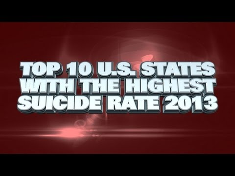 Top 10 US States WIth The Highest Suicide Rate 2013