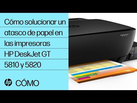 Cómo solucionar un atasco de papel en las impresoras HP DeskJet GT 5810 y 5820 | @HPSupport