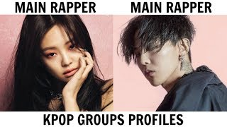 These are the profiles of all the members of BIGBANG and BLACKPINK....