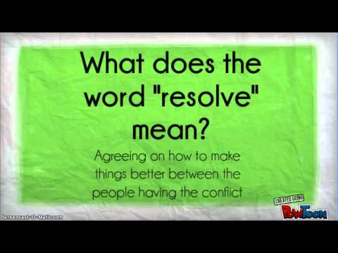 Conflict Resolution Digital Story