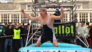 Man Dives Into Shallow Kiddy Pool From 35 Feet In The Air