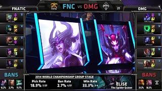 Fnatic vs OMG | Gąme 2 Group C S4 LOL World Championship 2014 Day 3 | FNC vs OMG D3G1
