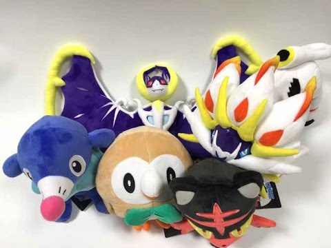 Japan Pokemon Center Gen 7 Rowlet Popplio Litten Solgaleo