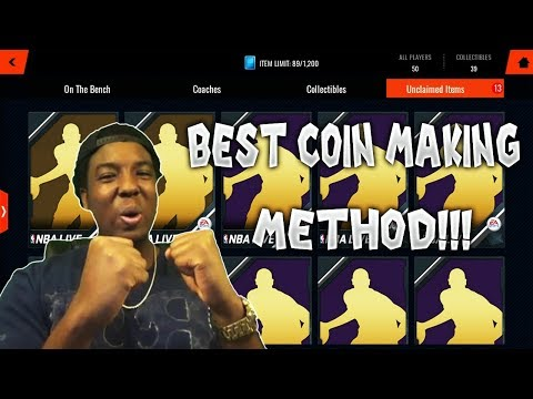 THE EASIEST WAY TO MAKE COINS IN NBA LIVE MOBILE 18!!! ROAD TO THE TOP EP. 10!!!
