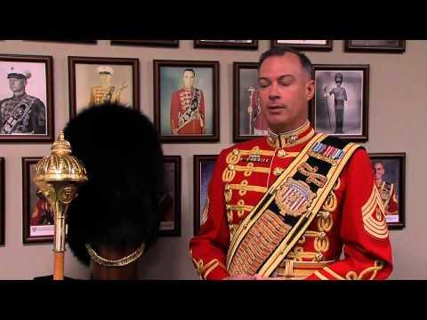 Marine Band Drum Major Master Gunnery Sgt. William Browne on Inauguration