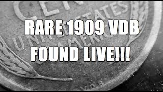 Semi Key Date 1909 VDB Lincoln Cent Found LIVE!!!! Amazing Coin Roll Hunt Find!