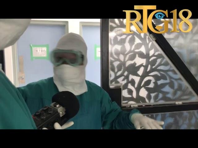 Vizit Radio Tele Ginen nan Lopital Inivèsite nan Mibalè kote yo pran swen malad Coronavirus yo.
