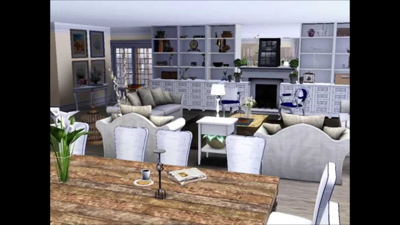 The sims 3 interior design coastal home hd youtube for Appartement design sims 3