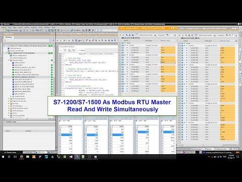 💢 S7 Modbus Tutorial : S7 1200/S7 1500 As Modbus RTU Master Read And Write Simultaneously