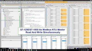 S7 Modbus Tutorial : S7 1200/S7 1500 As Modbus RTU Master Read And Write Simultaneously