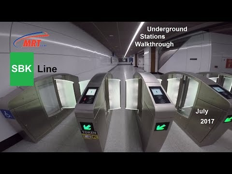 MRT Malaysia | SBK Line | Underground Stations Walkthrough | July 2017 | HD