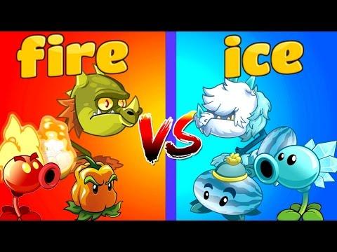 Plants vs Zombies 2 FIRE vs ICE