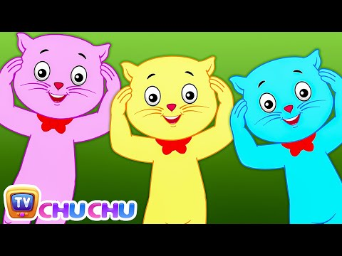 Head, Shoulders, Knees & Toes - Nursery Rhymes by Cutians™ - The Cute Kittens | ChuChu TV