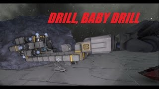Space Engineers; Small Drill Ship Build